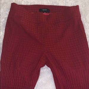 Pants - Red Stretchy Pants